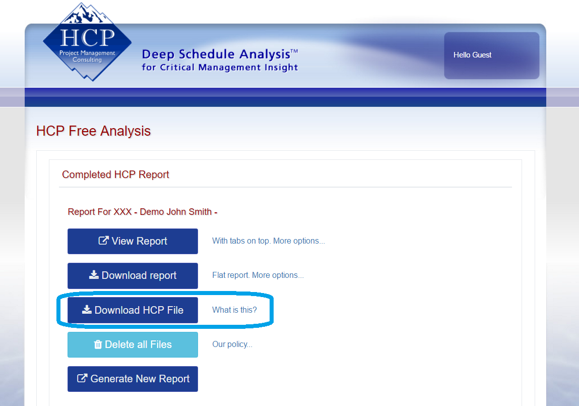 Download HCP file