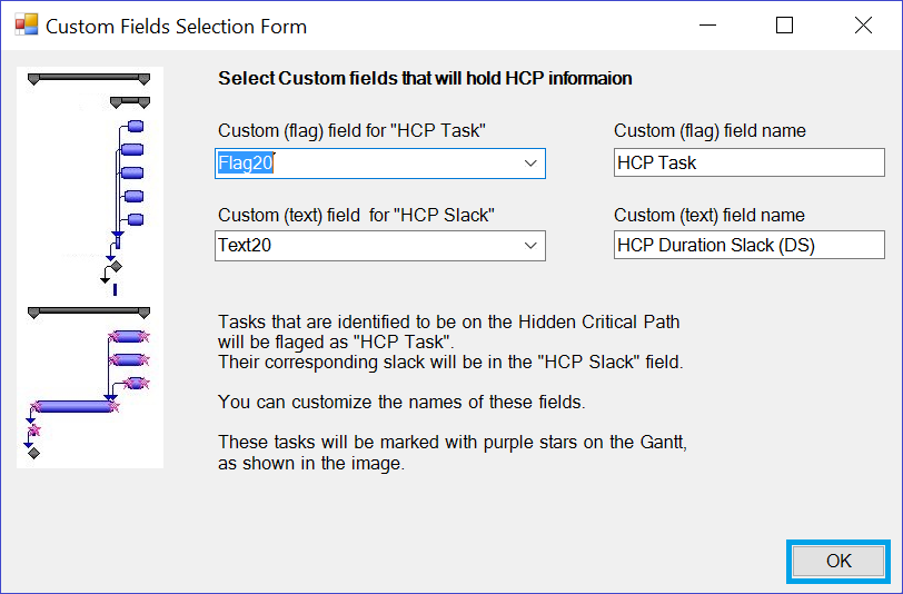 Read *.hcp file into MS Project